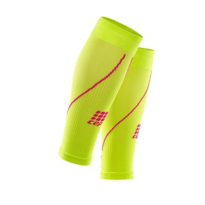 CEP Compression Calf Sleeves 2.0 - Green/Pink + Free Running Socks