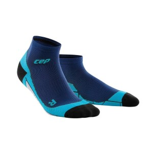 CEP Low Cut Running Socks - Navy/Blue