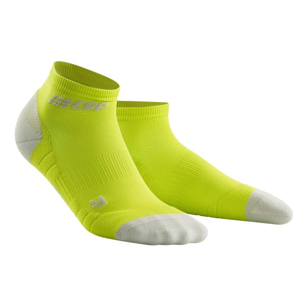 CEP Low Cut Running Socks 3.0 - Lime/Grey