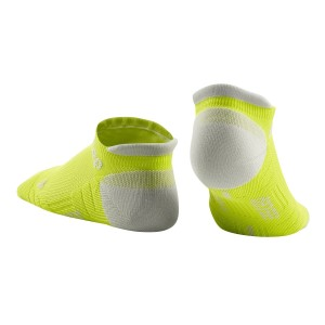 CEP No Show Running Socks 3.0 - Lime/Grey - Lime/Grey