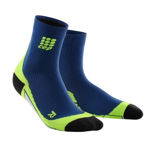 CEP High Cut Running Socks - Navy/Green