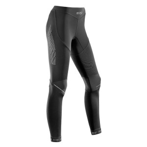 CEP Compression Womens Full Length Tights - Black + Free Running Socks