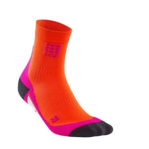 CEP High Cut Running Socks - Orange/Pink