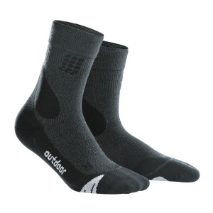 CEP Outdoor Merino Mid Cut Socks - Black