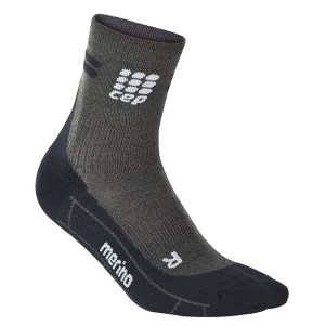 CEP Merino High Cut Socks - Grey/Black
