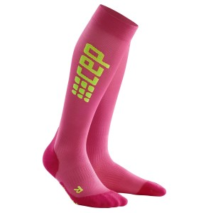 CEP Ultra Light Compression Run Socks - Pink