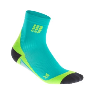 CEP High Cut Running Socks - Lagoon/Lime