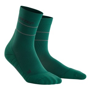 CEP Reflective Mid Cut Running Socks