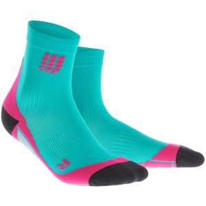 CEP High Cut Running Socks - Lagoon/Pink