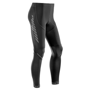 CEP Compression Mens Full Length Tights - Black + Free Running Socks