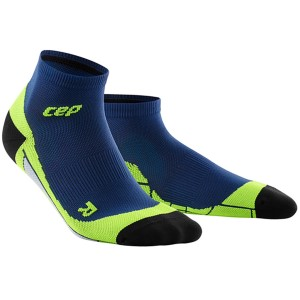 CEP Low Cut Running Socks - Navy/Green