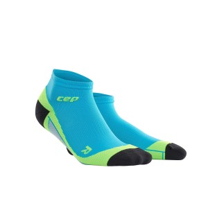 CEP Low Cut Running Socks - Blue/Green