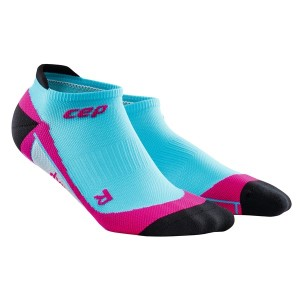 CEP No Show Running Socks - Blue/Pink