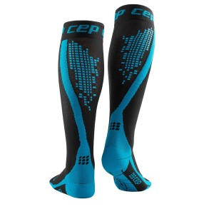 CEP Nighttech Reflective Compression Socks - Black/Blue
