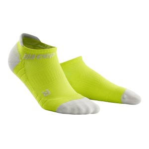 CEP No Show Running Socks 3.0 - Lime/Grey
