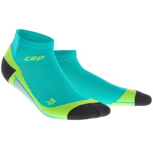 CEP Low Cut Running Socks - Lagoon/Lime