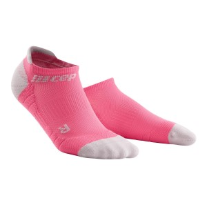 CEP No Show Running Socks 3.0 - Pink/Grey
