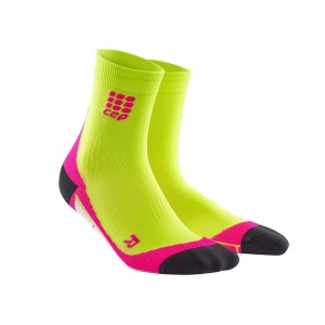 CEP High Cut Running Socks - Green/Pink
