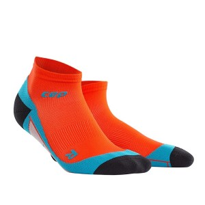 CEP Low Cut Running Socks - Orange/Blue