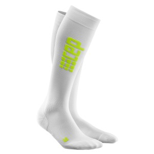 CEP Ultra Light Compression Run Socks - White + Free Running Socks