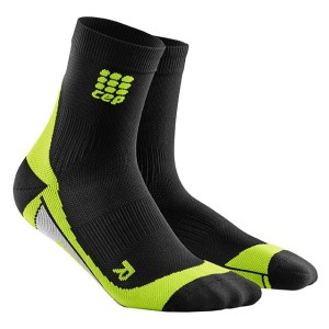 CEP High Cut Running Socks - Black/Green