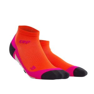 CEP Low Cut Running Socks - Orange/Pink