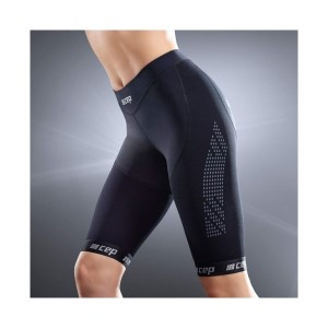 CEP Compression Womens Short Tights - Black