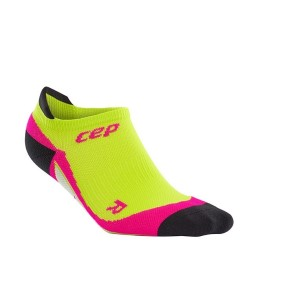 CEP No Show Running Socks - Green/Pink