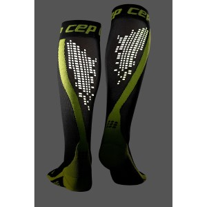 CEP Nighttech Reflective Compression Socks - Black/Green